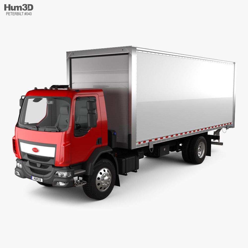 Peterbilt 220 Box Truck 2014 3D model