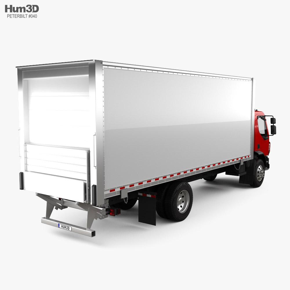 Peterbilt 220 Box Truck 2014 3d model back view