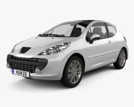 3D model of Peugeot 207 2006