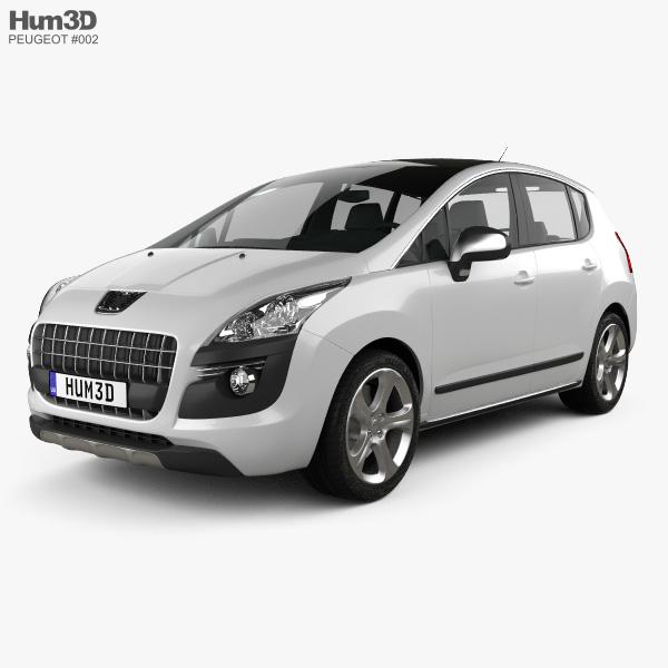 Peugeot 3008 2010 3D model
