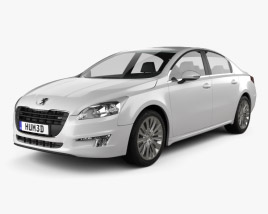 3D model of Peugeot 508 saloon 2011