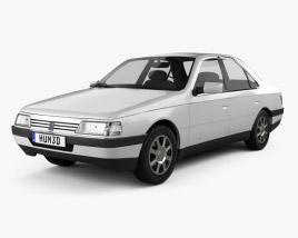 3D model of Peugeot 405 sedan 1987
