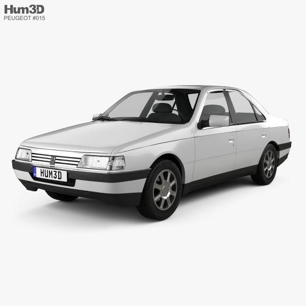 Peugeot 405 sedan 1987 3D model