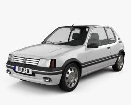 3D model of Peugeot 205 3-door GTI 1983-1998