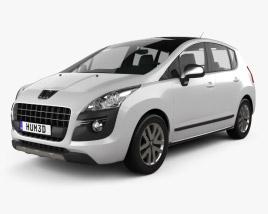3D model of Peugeot 3008 Hybrid 2012