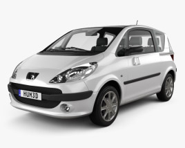 3D model of Peugeot 1007 2008