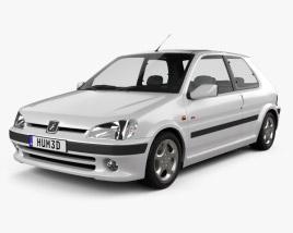 3D model of Peugeot 106 GTI 3-door 1997