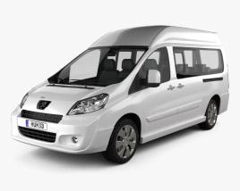 3D model of Peugeot Expert II Combi L2H2 2011