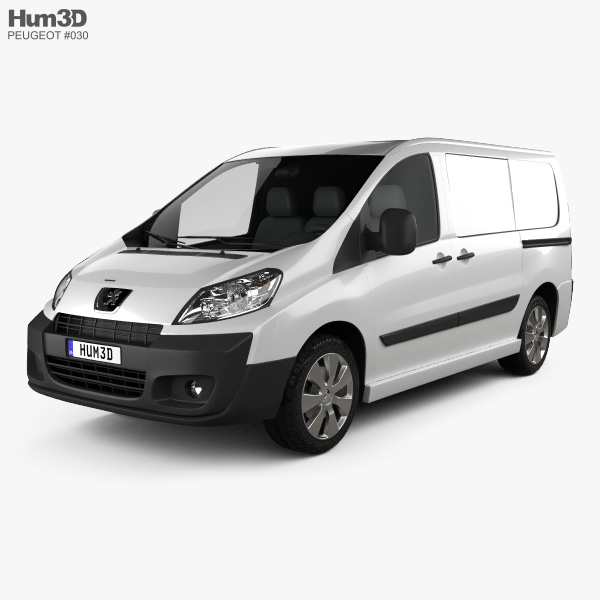 3D model of Peugeot Expert II Panel Van L1H1 2011