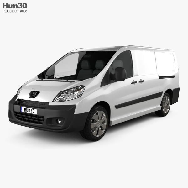 3D model of Peugeot Expert II Panel Van L2H1 2011