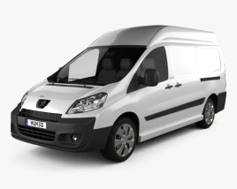 3D model of Peugeot Expert II Panel Van L2H2 2011