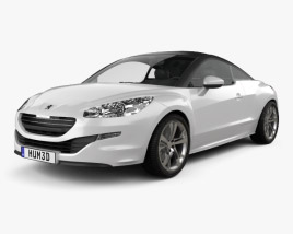 3D model of Peugeot RCZ coupe 2013