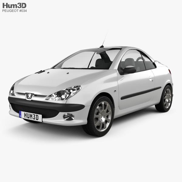 Peugeot 206 CC 2005 3D model