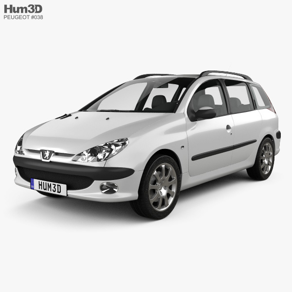 Peugeot 206 SW 2005 3D model