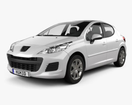 3D model of Peugeot 207 hatchback 5-door 2012