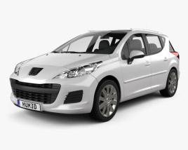 3D model of Peugeot 207 SW 2012