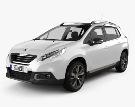 3D model of Peugeot 2008 2013
