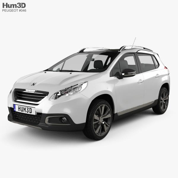 Peugeot 2008 2013 3D model
