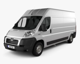 3D model of Peugeot Boxer Panel Van 2007