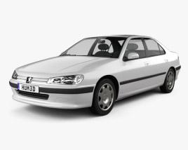 3D model of Peugeot 406 sedan 1995