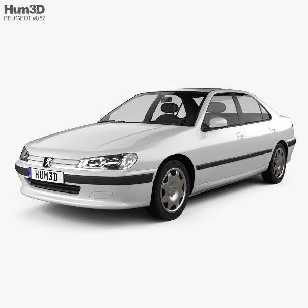 Peugeot 406 sedan 1995 3D model