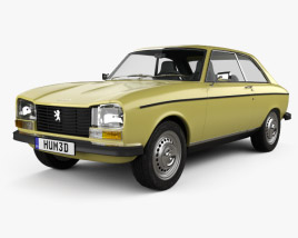 3D model of Peugeot 304 coupe 1970