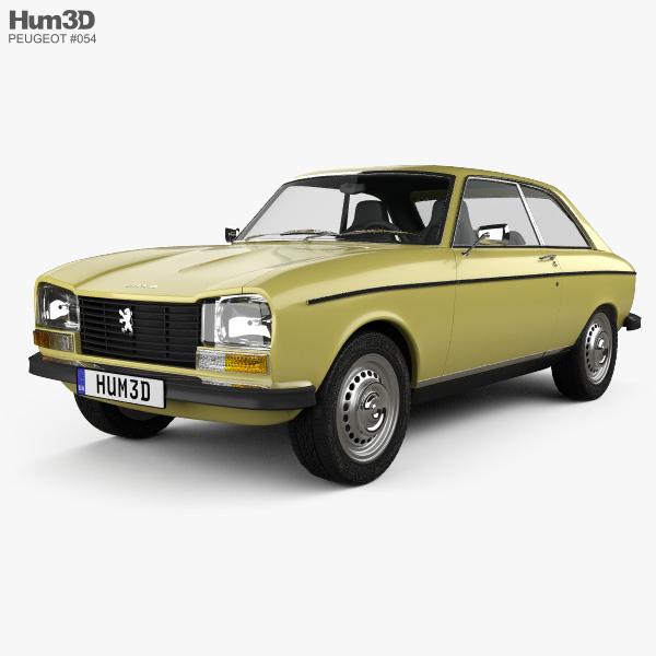 Peugeot 304 coupe 1970 3D model