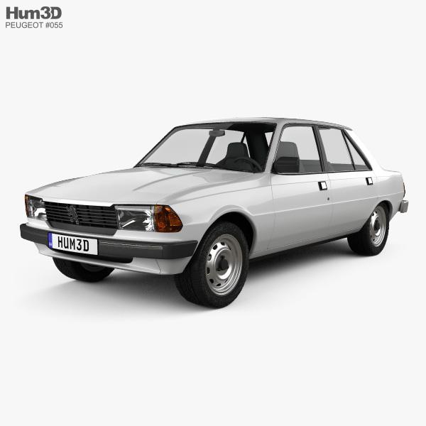 Peugeot 305 sedan 1977 3D model