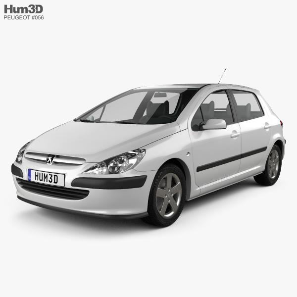 Peugeot 307 5-door hatchback 2001 3D model