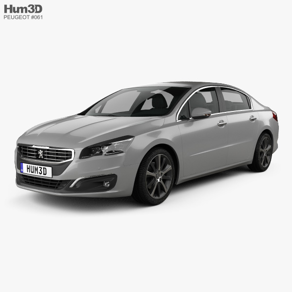 Peugeot 508 sedan 2014 3D model