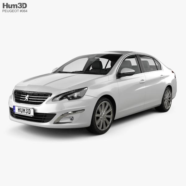 Peugeot 408 (CN) 2014 3D model
