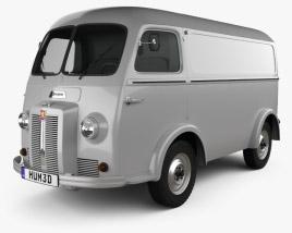 3D model of Peugeot D3A camionette 1954
