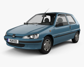 3D model of Peugeot 106 Electric 3-door 1993