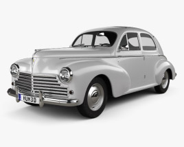 3D model of Peugeot 203 1948