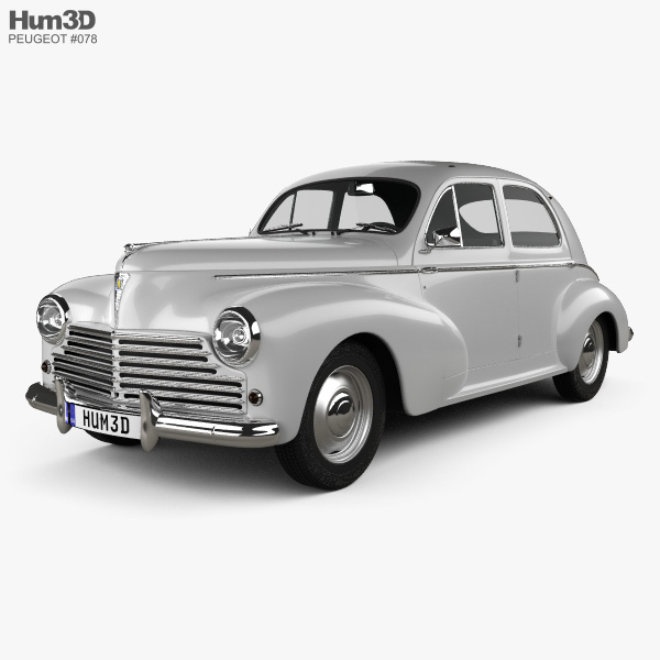 Peugeot 203 1948 3D model