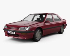 3D model of Peugeot 605 1989