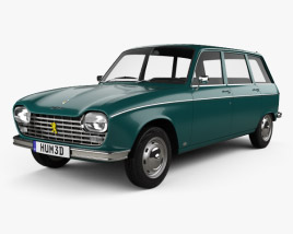3D model of Peugeot 204 Break 1966