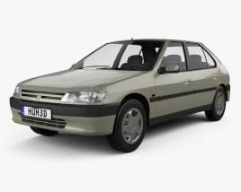 3D model of Peugeot 306 5-door hatchback 1993