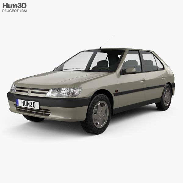 Peugeot 306 5-door hatchback 1993 3D model