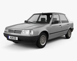 3D model of Peugeot 309 5-door 1985
