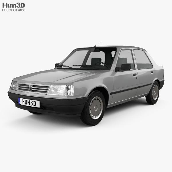 Peugeot 309 5-door 1985 3D model