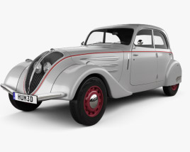 3D model of Peugeot 402 Legere 1935
