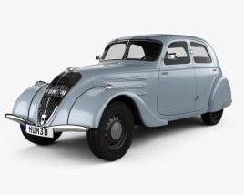 3D model of Peugeot 302 1936