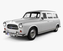 3D model of Peugeot 403 Familiale 1956