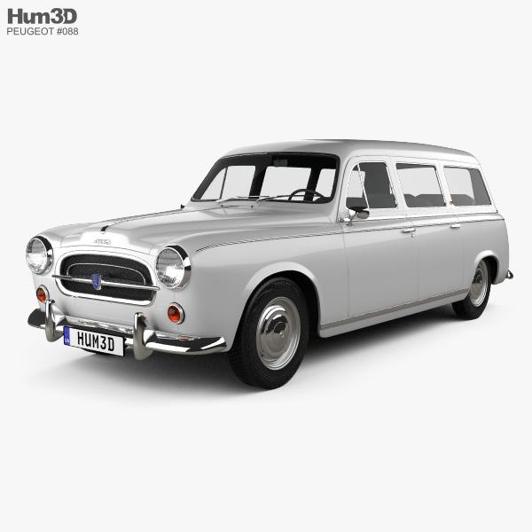 Peugeot 403 Familiale 1956 3D模型