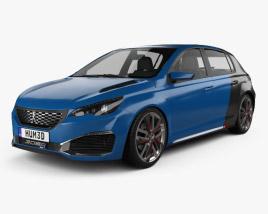 3D model of Peugeot 308 R Hybrid 2015