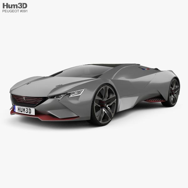 Peugeot Vision Gran Turismo 2015 3D-Modell