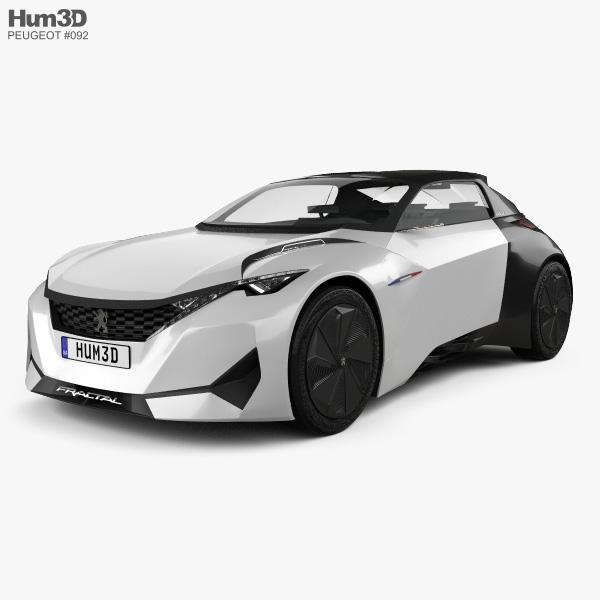 Peugeot Fractal 2015 3D model