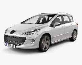 3D model of Peugeot 308 SW 2008