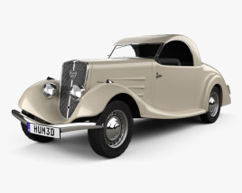 3D model of Peugeot 401 Eclipse 1934
